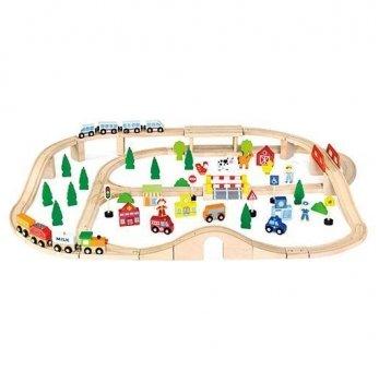 Игрушка Viga Toys Железная дорога 50998 90 шт