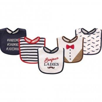 Комплект слюнявчиков Hudson Baby, 5 штук,  Bonjour Ladies