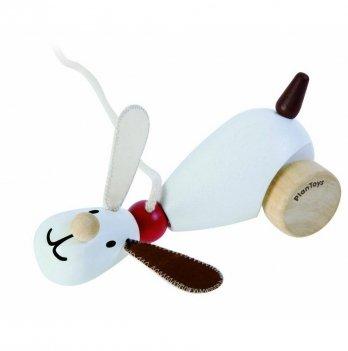 Деревянная игрушка-каталка PlanToys® Сидящий и ходящий щенок