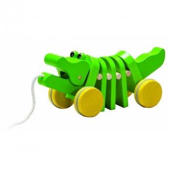 Деревянная игрушка-каталка PlanToys® Танцующий крокодил