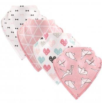 Комплект слюнявчиков Hudson Baby, 4 штуки, Оригами