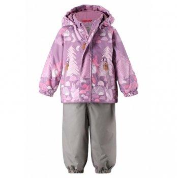 Комплект Reima Reimatec куртка, брюки на подтяжках Ruis, сиреневый