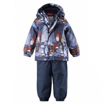Комплект Reima Reimatec куртка, брюки на подтяжках Ruis, синий