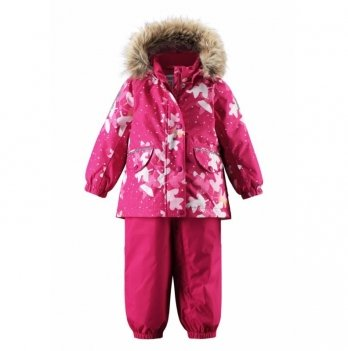 Комплект Reima Reimatec куртка, брюки на подтяжках Mimosa, малиновый