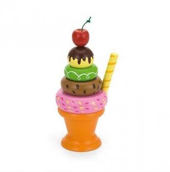 Игровой набор Viga Toys Мороженное с фруктами Вишенка