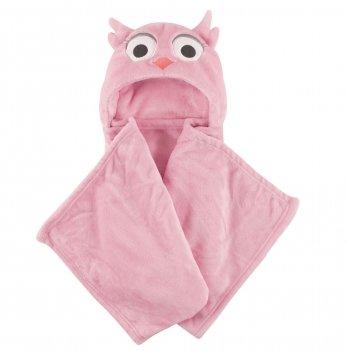 Одеяло-плед Hudson Baby, Розовая совушка