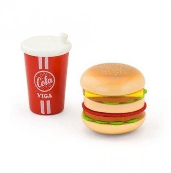 Игровой набор Viga Toys гамбургер и кола