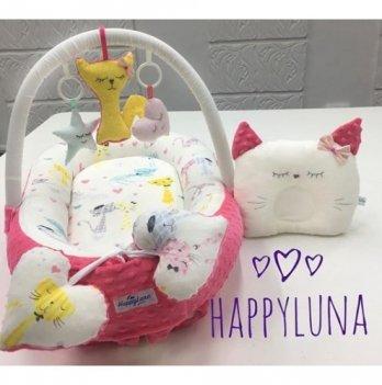 Кокон-гнездышко Happy Luna 0110 Babynest Plush Кошечка