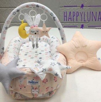 Кокон-гнездышко Happy Luna 0133 Babynest Standart Зайка