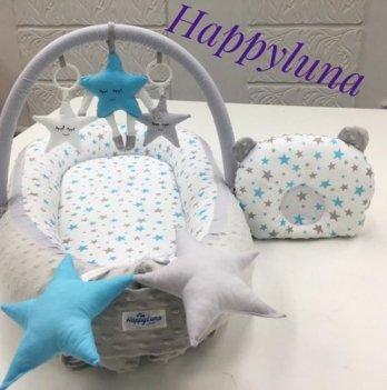 Кокон-гнездышко Happy Luna 0111 Babynest Plush Звездочки
