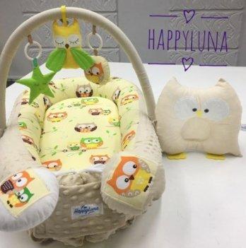 Кокон-гнездышко Happy Luna 0112 Babynest Plush Совки 3