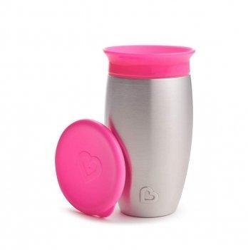 Чашка-непроливайка Miracle 360 Munchkin розовый 296 мл.