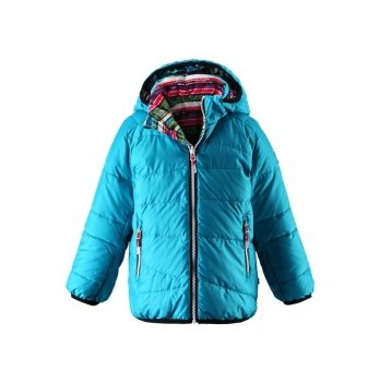 Куртка пуховик Reima TEGMEN, двухсторонняя, бирюзовая, 521343