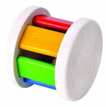 Деревянная погремушка-каталка PlanToys® Ролик