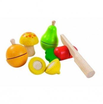 Деревянный игровой набор PlanToys® Овощи и фрукты, 5337