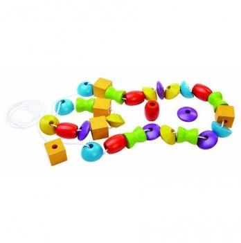 Деревянная развивающая игрушка PlanToys® Собери бусы