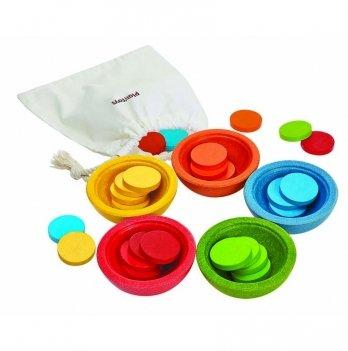 Деревянная игрушка PlanToys® Чашки-сортер