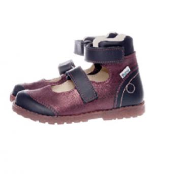 Туфли ортопедические кожаные Ortho Cyborg 2122-57, бордовый с черным