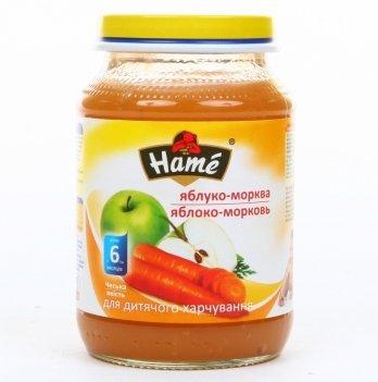 Пюре Hame яблоко и морковь 190 г