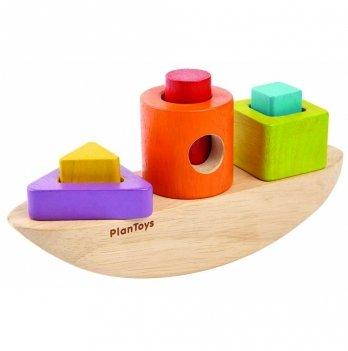 Деревянная игрушка PlanToys® Лодка-сортер
