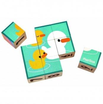 Деревянная игрушка PlanToys® Кубики-пазлы