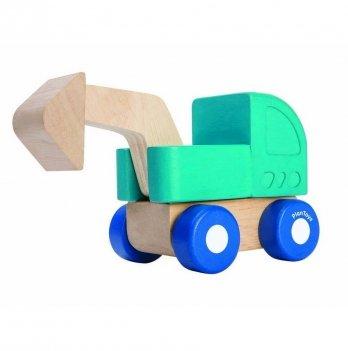 Деревянная игрушка PlanToys® Мини - экскаватор
