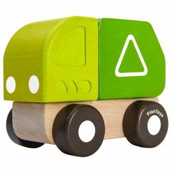 Деревянная игрушка PlanToys® Мини - мусоровоз