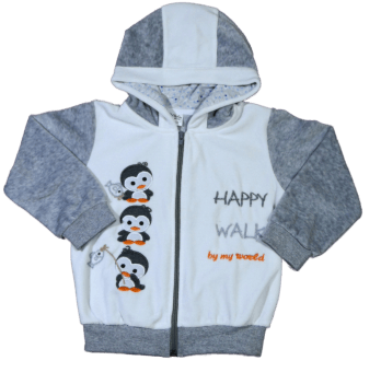 Куртка велюровая Мій Світ 54518-23 Пингвины