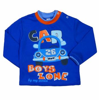 Джемпер для мальчика Мій Світ Машинка, синий