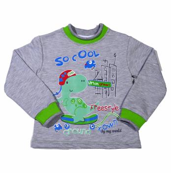 Джемпер для мальчика Мій Світ Динозавр, серый