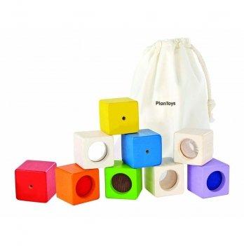 Деревянная игрушка PlanToys® Обучающие кубики