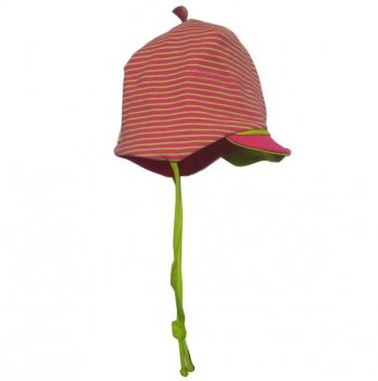 Легкая шапочка MaxiMo фуксия с зеленой отделкой