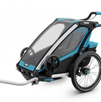 Мультиспортивная коляска Thule Chariot  Sport1 велосипедный прицеп, Blue