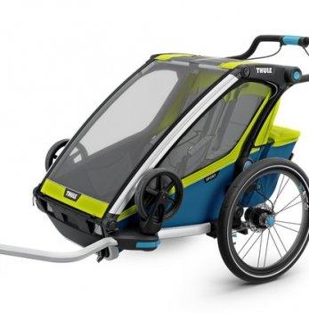 Мультиспортивная коляска Thule Chariot  Sport2, велосипедный прицеп, Chartreuse