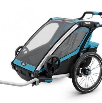 Мультиспортивная коляска Thule Chariot  Sport2, велосипедный прицеп, Blue