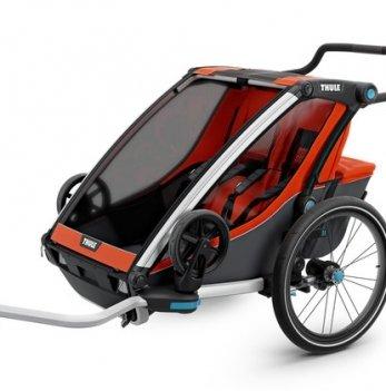 Мультиспортивная коляска Thule Chariot Cross2, велосипедный прицеп, Roarange