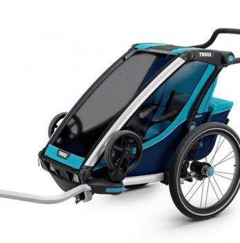 Мультиспортивная коляска Thule Chariot Cross1, велосипедный прицеп, Blue