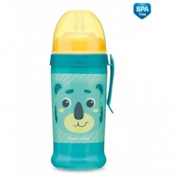 Поильник с силиконовой насадкой Canpol babies Hello Little коала, бирюзовый