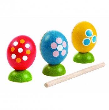 Набор деревянных погремушек PlanToys® в виде яиц