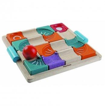 Деревянная развивающая игрушка PlanToys® Балансирующий лабиринт с шаром