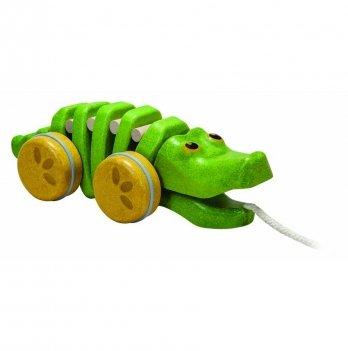 Деревянная игрушка-каталка PlanToys® Танцующий крокодил, 5609