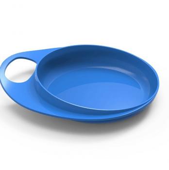Тарелка мелкая для кормления Nuvita Easy Eating, 2шт., синяя