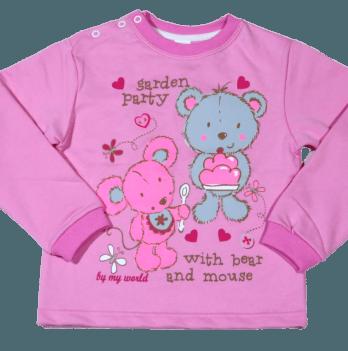 Джемпер Мій Світ 56303-01 розовые кнопки Мишка