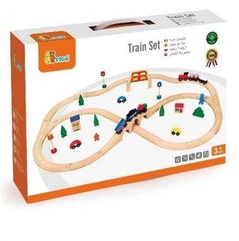 Игрушка Viga Toys Железная дорога 56304 49 шт