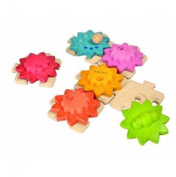 Деревянная игрушка PlanToys® Шестерни и пазлы - стандарт
