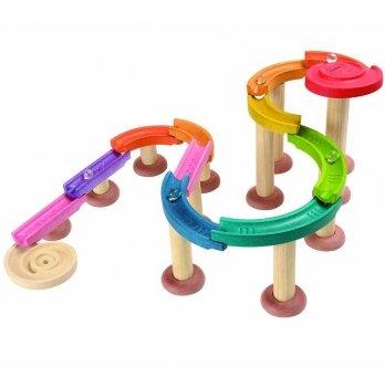 Деревянная игрушка PlanToys® Мраморный жёлоб - де люкс
