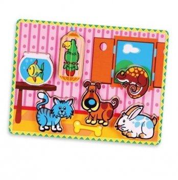 Пазл Viga Toys Домашние животные 56440