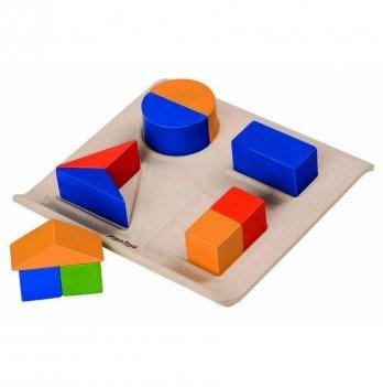 Деревянная развивающая игрушка PlanToys® Забавные геометрические формы