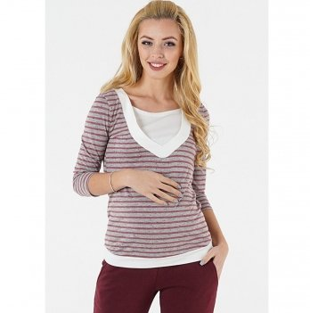 Джемпер для беременных и кормящих To be Серый 1335246