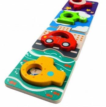 Деревянная игрушка-пазл PlanToys® Транспорт
